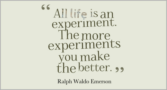 Experiments Quote